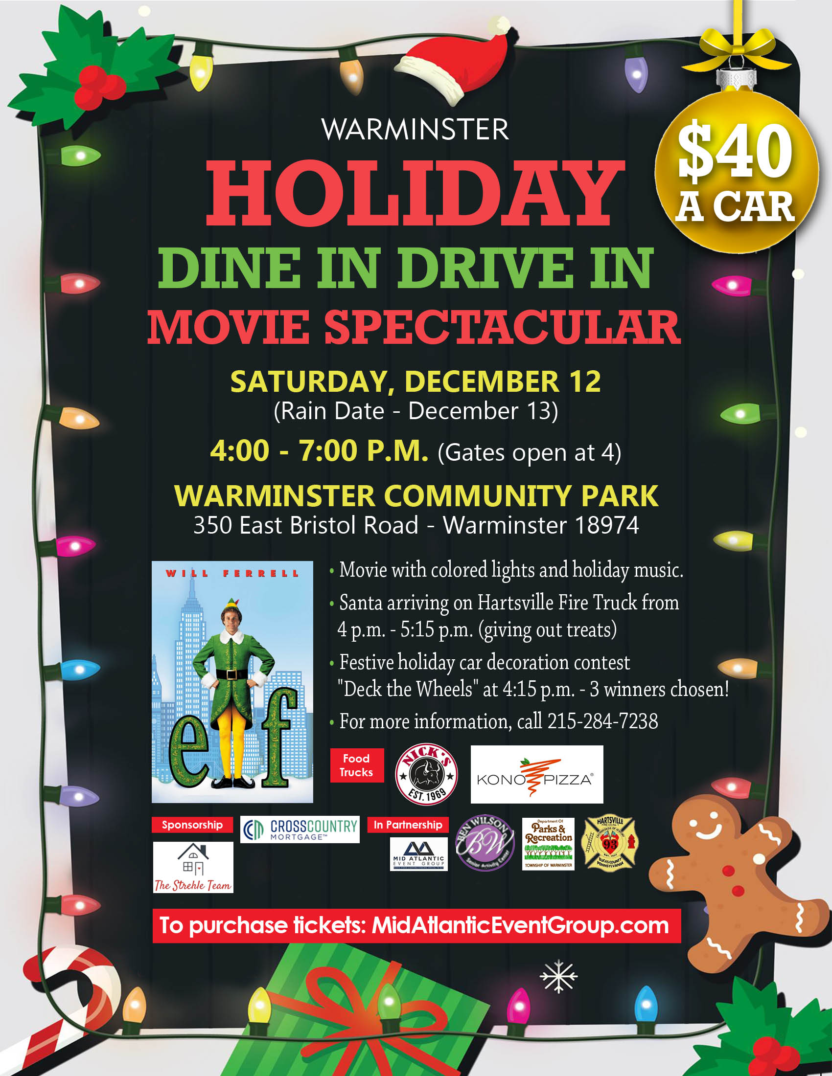 Warminster Holiday Dine in Drive in Movie Spectacular