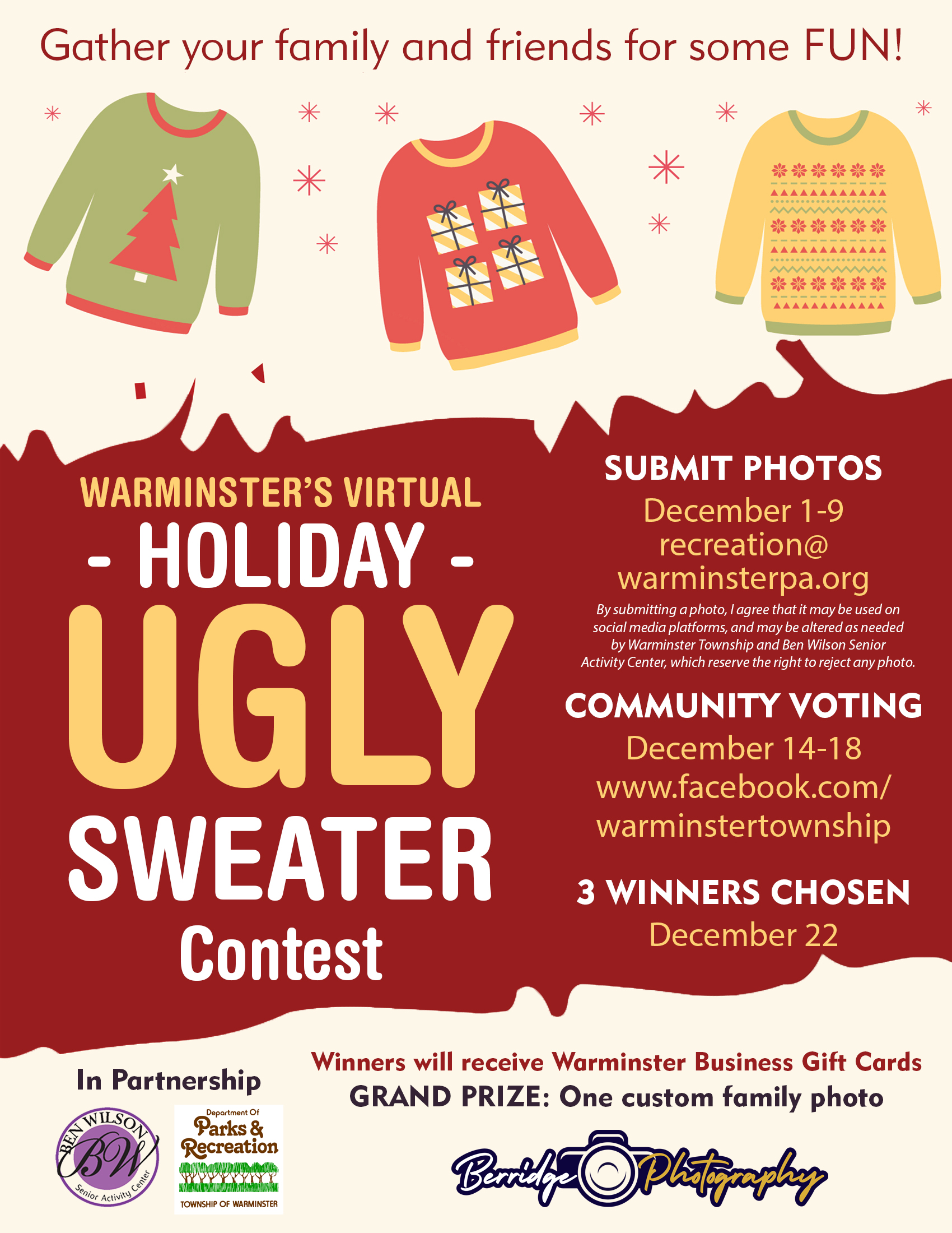 Warminster's Virtual - Holiday - UGLY Sweater Contest