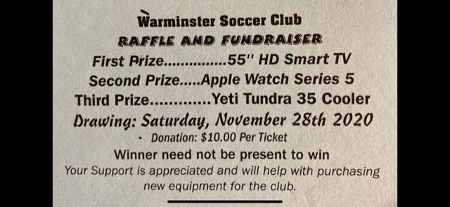 WSC November Raffle Winners Updated!